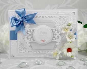 Luxury Birthday Card, Handmade Birthday Card, Personalised Birthday Card, Boxed Birthday Card, Handmade Card, Happy Birthday Card