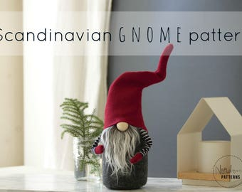 Claus the Scandinavian Christmas Gnome PATTERN by NORDIKatja , do it yourself, DIY , PDF download pattern for Tomte or Nisse