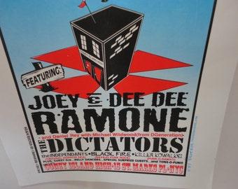 Vintage Joey Ramone's 4th of July Blitzkrieg Bash - Joey & Dee Dee Ramone Poster Advertising