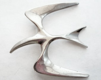 Vintage Silver Sarah Coventry Seagull Brooch Collectible Jewelry Bridal Brooch Bouquet