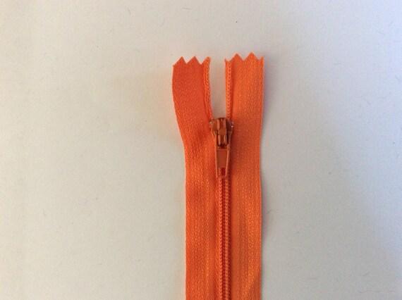 """Nylon coil zippers, 30cm (12""""), orange"""