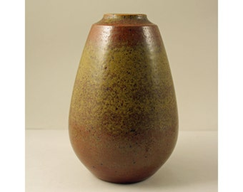 Marianne Starck for Michael Andersen, Denmark. Unique Stoneware Vase, Beautiful Glaze