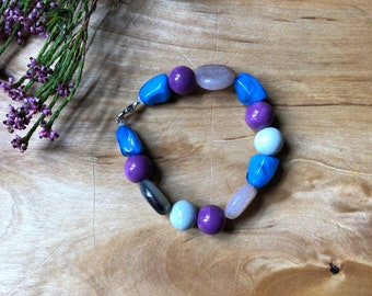 Colourful Stone Bead Bracelet