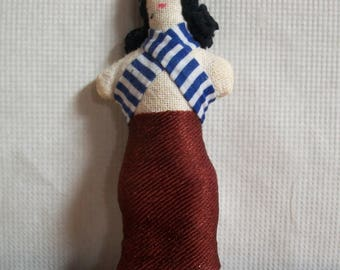 Cloth Folk Art Doll **