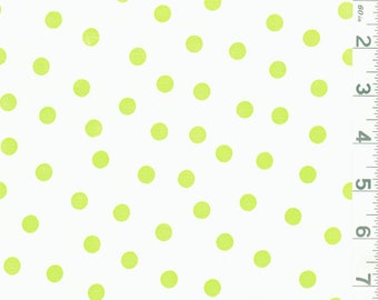 Green Dot Oilcloth, Fabric By The Yard