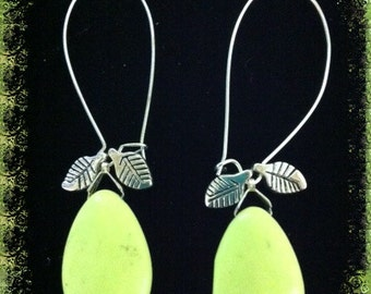 Summer Pears dangle From Kidney wires As If Hanging From A Pear Tree earrings