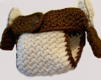 Diaper Cover with Holster & Pistols  - Crochet, Unique, Adorable Shower Gift, Photo Prop