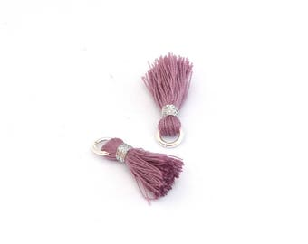 Small PomPoms 2 cm set of 2 dark purple P44 - FM