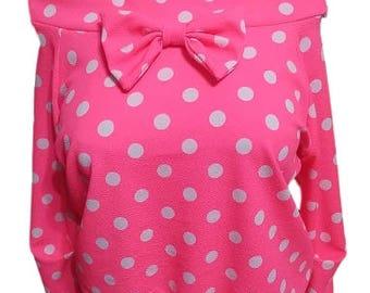 Pink Polka Dot Sweater