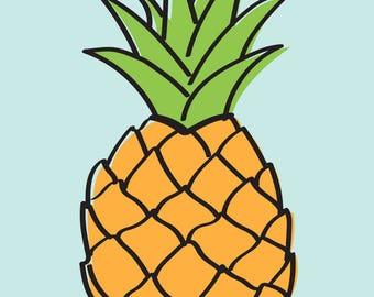 Pineapple print
