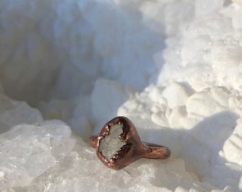 Geode Electroformed Ring- Size 6.25