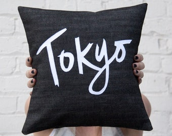 Tokyo Pillow, Black and White