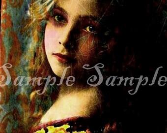 Original Collage Kunst sofort digital Download Collage verändert Shabby Chic Prinzessin viktorianischen Gothic kleine Mädchen surreale druckbare Kunst