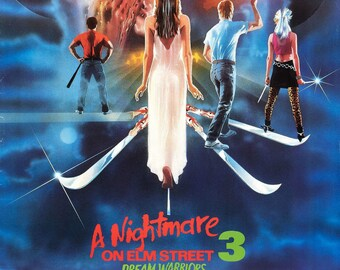 A Nightmare on Elm Street 3 1987 Cult Vintage Horror Film Movie Poster A3 A4