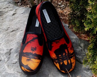 Hand Painted Toms - African Sunset