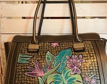 Hand Painted Purse- #Tropicalbeauty