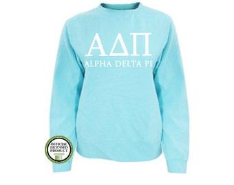 Alpha Delta Pi Comfort Colors Sweatshirt, Greek pullover, Greek gift, Sorority gift, Big and Little, Alpha Delta Pi, ADPi