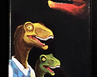 Dino Family Portrait Fridge Magnet