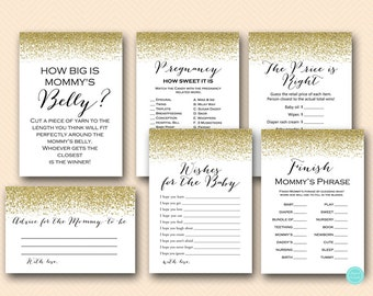 Gold Baby Shower Game Printable, Game Package, Instant Download, Gold Baby  Shower Games, Coed Baby Shower Games TLC87
