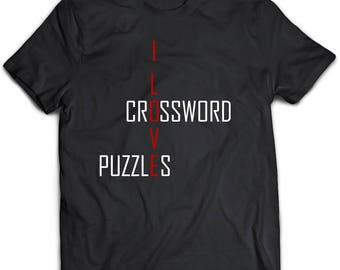 Crossword puzzles t shirt. Crossword shirt. Crossword gift.