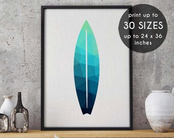 Abstract beach print, surfboard, soft beach colours, surfboard print, pattern, blue art print, surfboard decor, bedroom decor, blue print,81