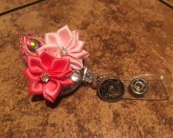 Pink Valentine ID Badge Reel