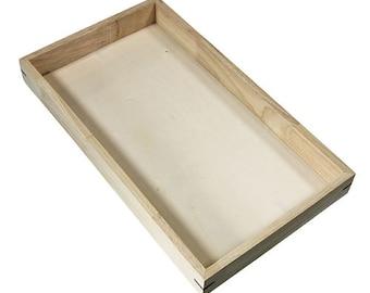 "Stackable Wooden Display Tray 1-1/2"" deep (Pkg of 3)  (DTR2001) (UPS)"