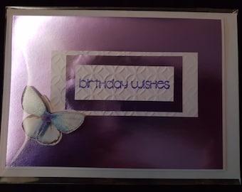 Birthday Card - Purple Butterfly