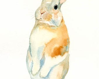 BUNNY 8x10inch print-Art Print-animal Watercolor Print-nursery decor-children art-home decor