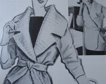 1960's Vintage Knitting Pattern Women's Sweater Coat PDF Pattern 6219