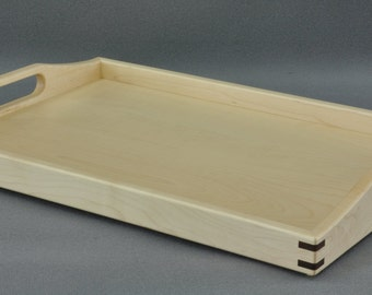 "Serving Tray/ Ottoman Tray- Maple 14"" x 20"" by Tyler Morris Woodworking"