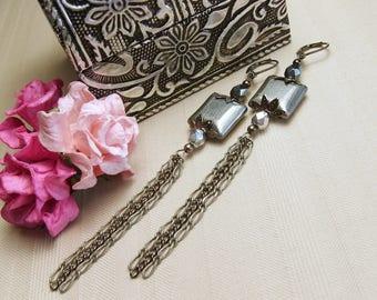 Silver earrings - Pendant earrings - Women's earrings -