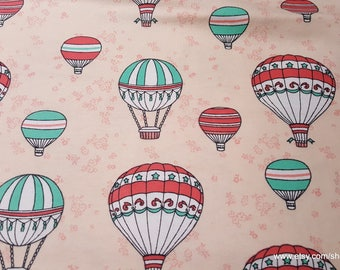 Flannel Fabric - Hot Air Balloons - By the yard - 100% Cotton Flannel