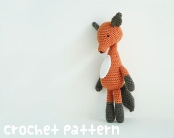 CROCHET PATTERN - Amigurumi Fox - PDF Instant Download - Cute Baby Shower Gift