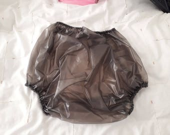 Adult Baby waterproof  grey   plastic pants/nappy covers