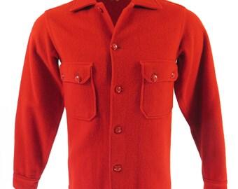 Vintage 50s Boy Scouts of America BSA Jacket Men S Bakelite Buttons Red [H99I_1-9]