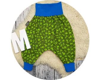 Harem pants, baby pants, baby, pants, Jersey pants, Mitwachsen trousers, harem trousers, Püreh, deer, Fox, hedgehog, forest