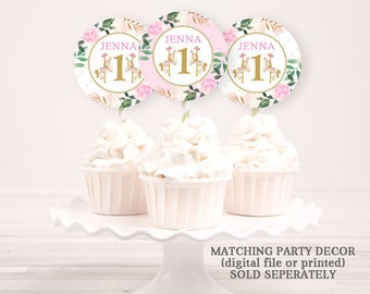 Carousel Cupcake Toppers - Customized/Personalized - Cupcake Toppers PRINTABLE