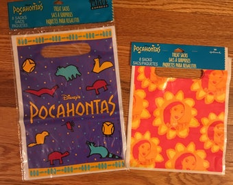 90s Pocahontas vintage treat sacks bags party supplies Walt Disney vhs movie film video awesome great fun funny cool Halloween birthday