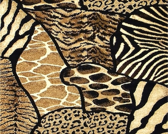 Animal Print Coasters Zebra Tiger Giraffe Leopard  Home Decor    Set of 4  US Free Shipping