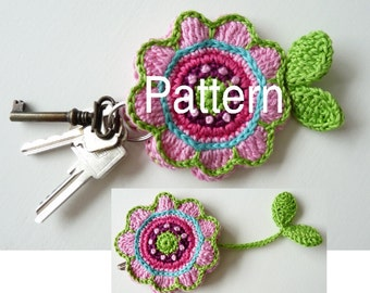 Pattern Key Cover Flower US Terminology  (Instant Download)