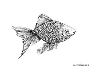 Gold Fish - Art Print