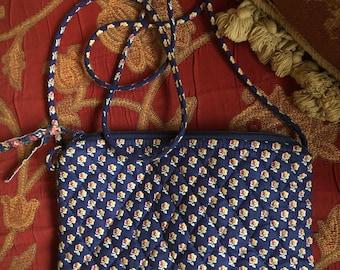 Shabby Chic Vera Bradley royal Petite cross body bag Purse