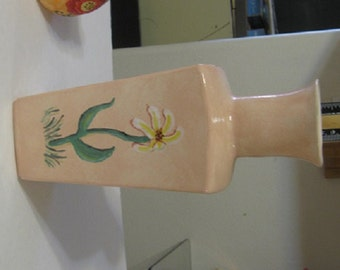 Pale Peach Floral Ceramic Vase