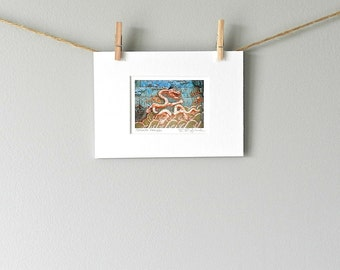 Chinese Dragon Mini Art, Turquoise Asian Art, Forbidden City Photography, Mini Dragon Art, Blue Dragon Wall Art, Small Print Asian Decor