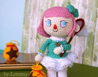 READY TO SHIP Mayor from Animal Crossing New Leaf, Villager girl, Animal crossing plush toy, Amigurumi Animal Crossing