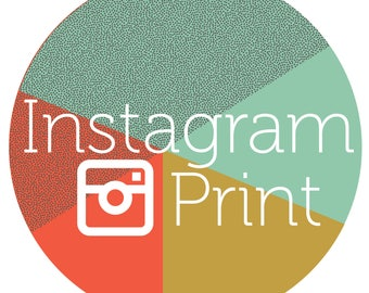 Instagram Print- Any Map from my Instagram- Printed on Demand