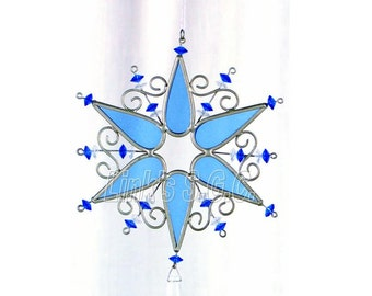Stained Glass Snow Flake Sun Catchers