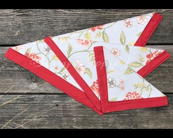 Spring Blooms - Double-up Bandana - Over the Collar - Multiple sizes