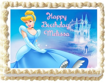 CINDERELLA Edible cake topper Party image